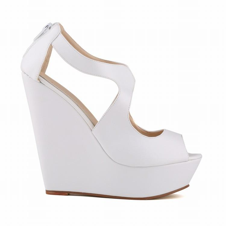 Sexy Peep-Toe High Wedges Club Sandals