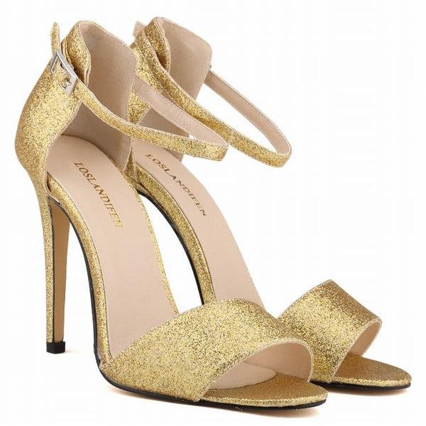Sexy Shining Peep-Toe High Heels Women's Sandals Shoes