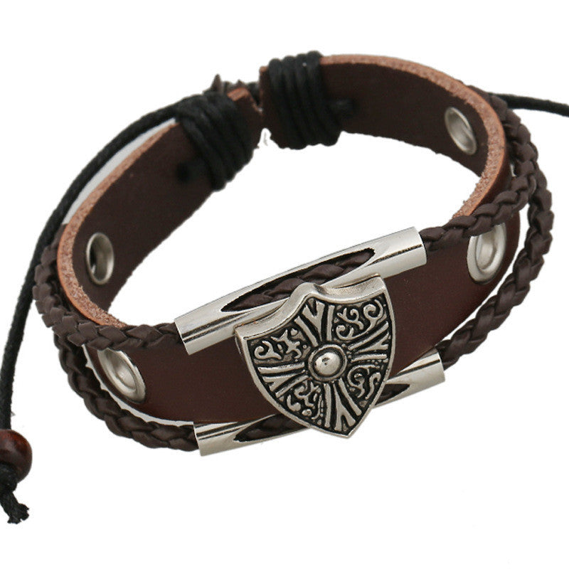 Shield Woven Multilayer Bracelet