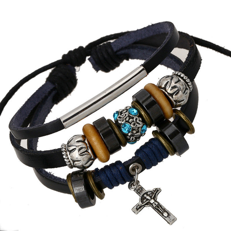 The Cross Beaded Fashion Bracelet