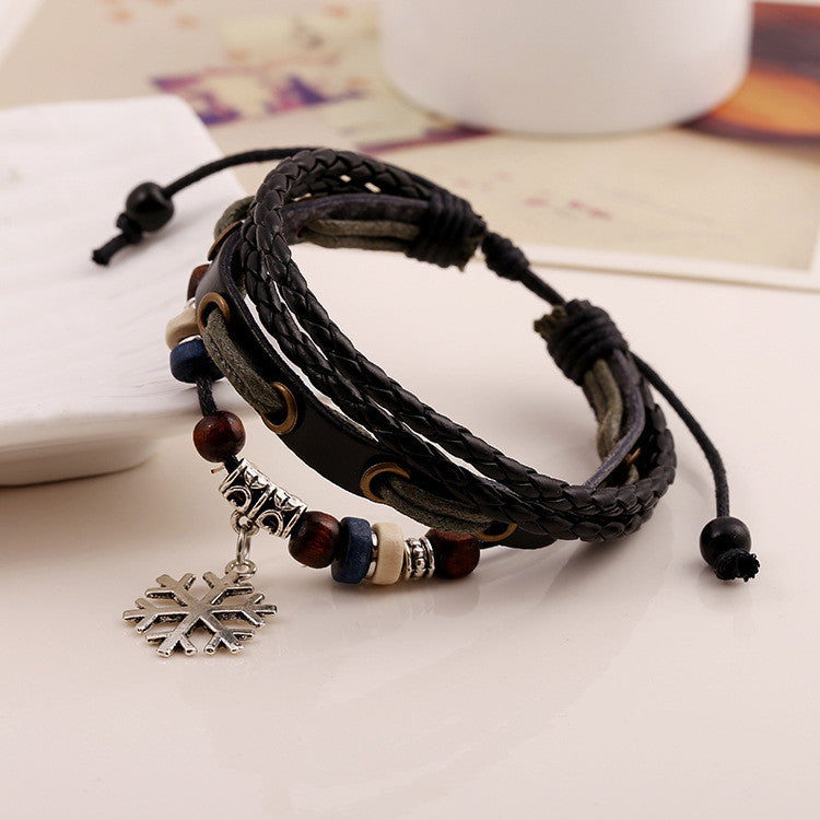 Snowflake Woven Multilayer Bracelet