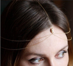 Fashion Topaz Chain Tassel Hair Accessories