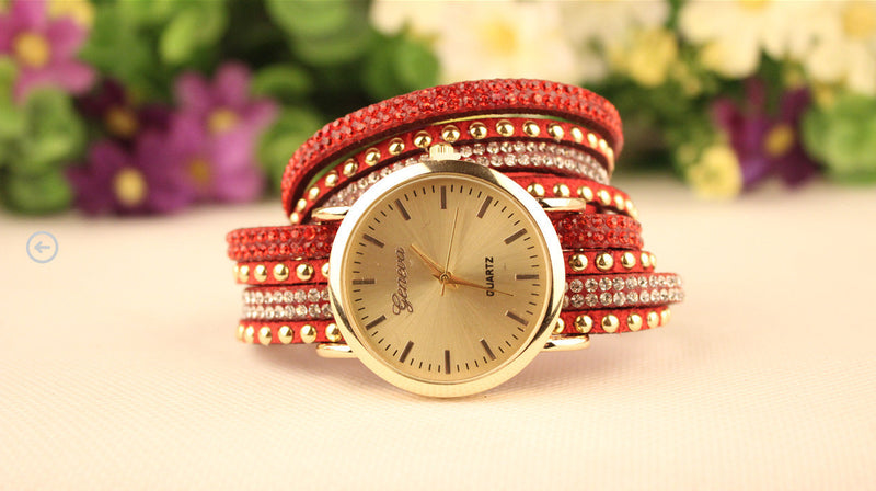 Korean Style Rivet Strap Casual Watch