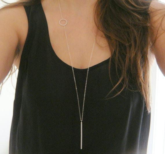 Simple Loops Stick Long Necklace