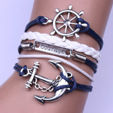 Anchor Rudder Courage Bracelet