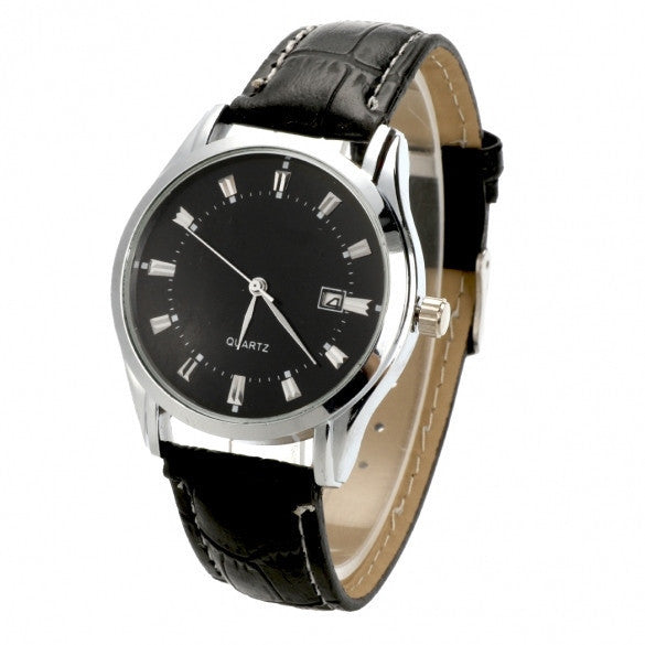 New Man / Men's Quartz Wrist Watches With Auto Date Display Function - May Your Fashion - 1
