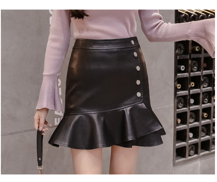 Falbala High Waist Bodycon Short Skirt