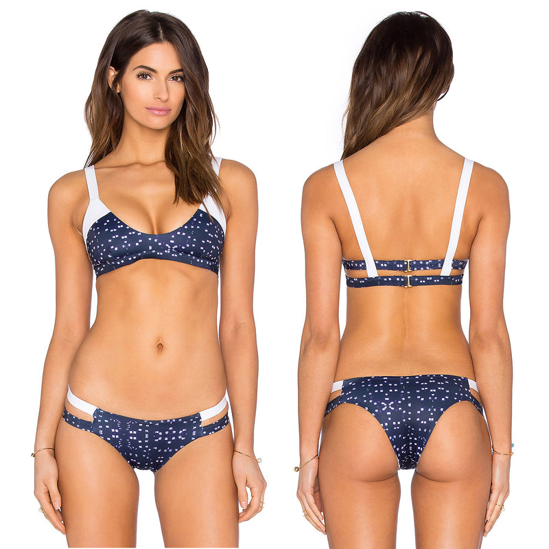 Print Spaghetti Strap Two Pieces Swimwear Bikini