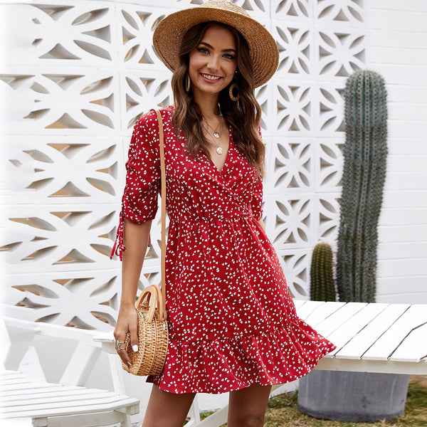 Printed Floral Casual Dress