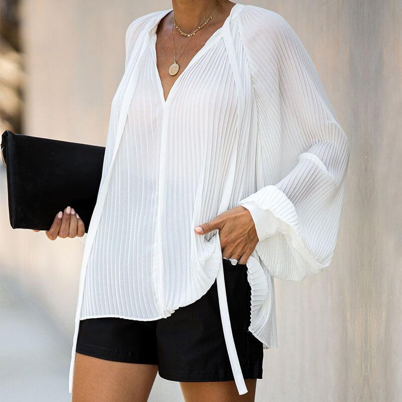 V-neck Loose Blouse