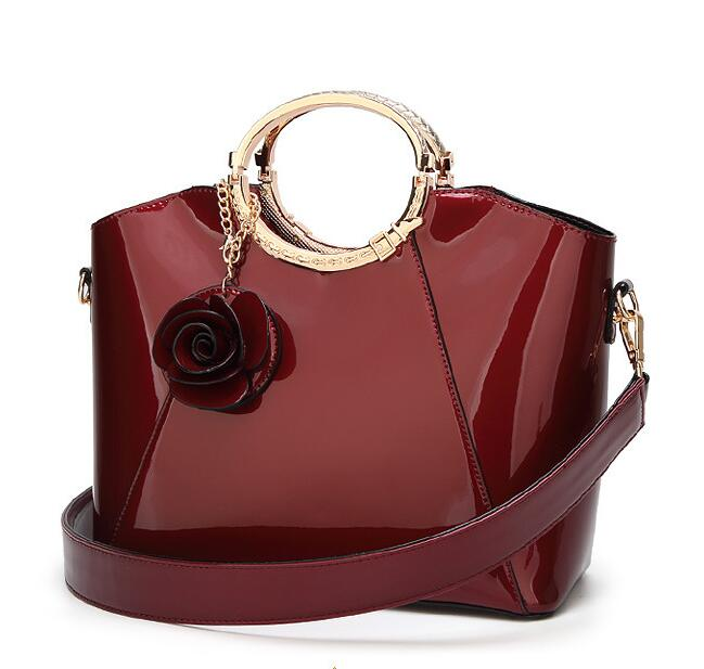 Occident Style Glossy Women Satchel