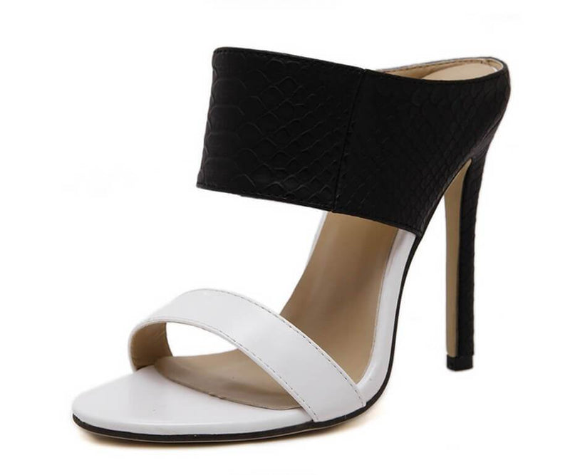 Stiletto Heel Peep-toe High Heels Slipper Sandals