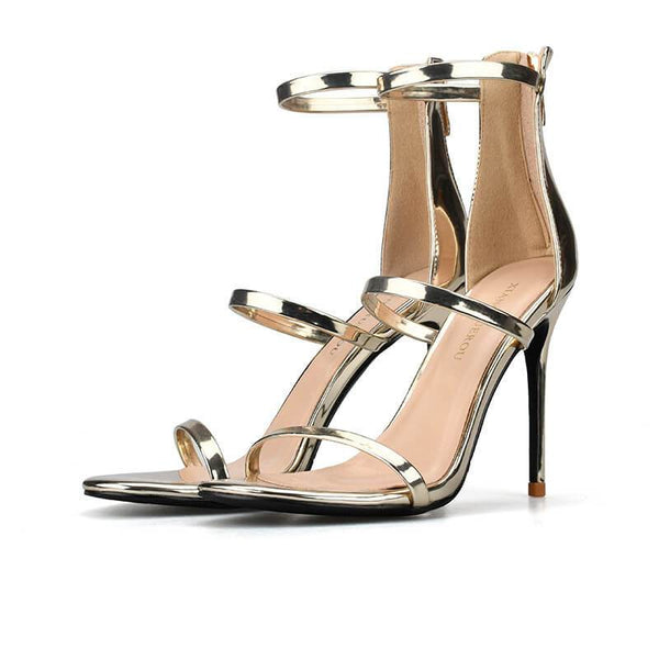 Summer Stiletto High Heels Buckle Sandals