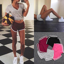 Drawstring Plain High Waist Short Pants