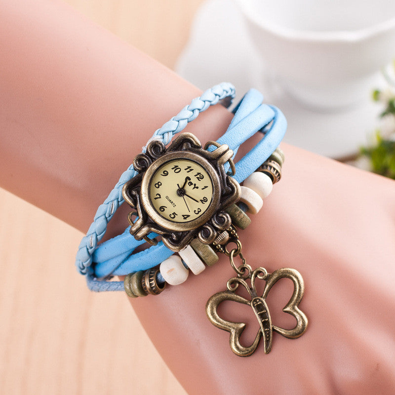 Hollow Out Butterfly Multilayer Watch