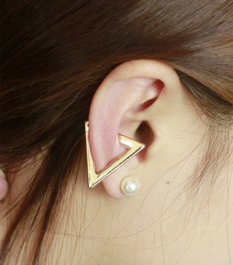 Exaggerate Triangle Ear Clip Earrings