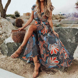 Boho Large Hem Maxi Dress