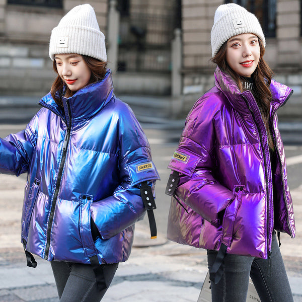 Galaxy Zipper Puffer Jacket