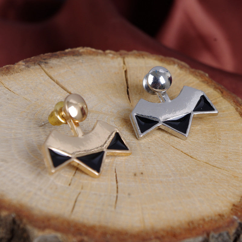Retro Sector Geometry Triangle Earrings