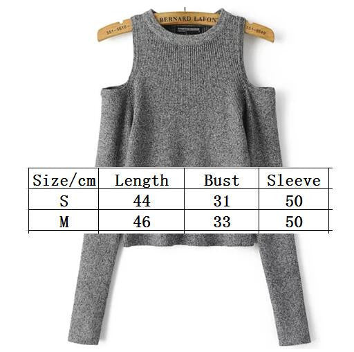Dew Shoulder Thread Long Sleeve Short Sweater