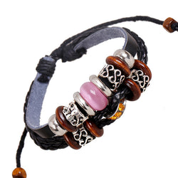 Fashion Joker Beaded Leather Bracelet