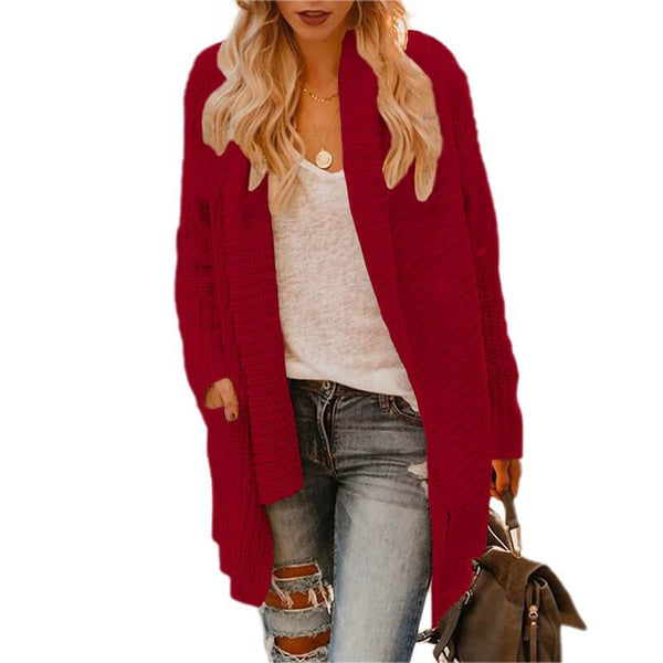 Loose Pockets Asymmetric Cardigan