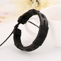 Simple Hand Woven Leather Bracelet