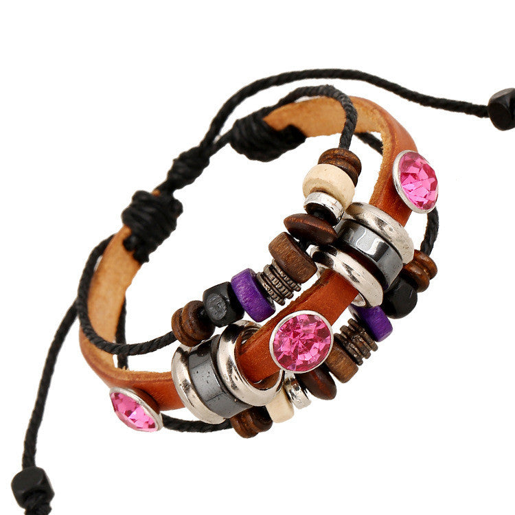 Fashion Beaded Crystal Multilayer Bracelet