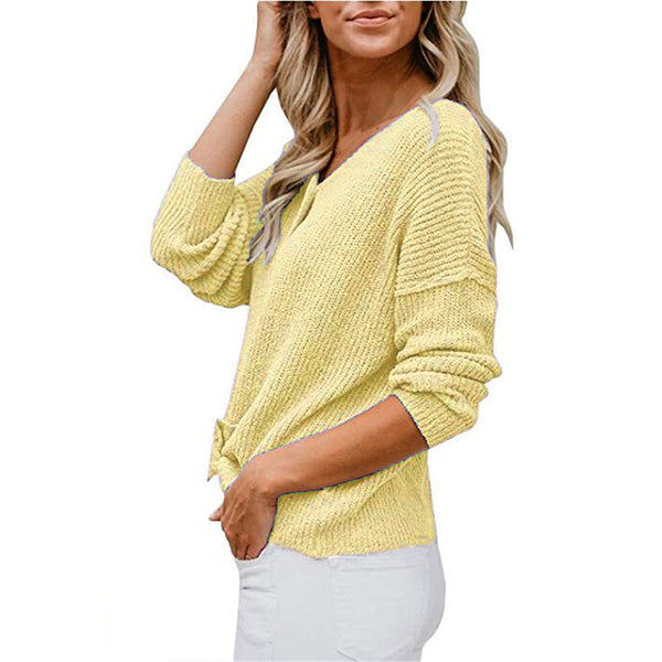 Loose Soild Knitted Cardigan
