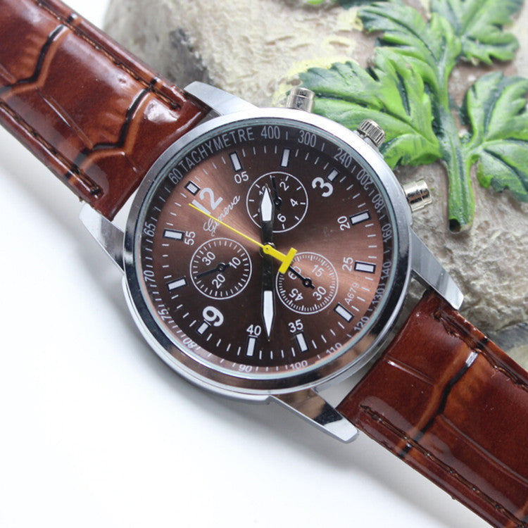 High-End Fashion Leather Lady's Watch