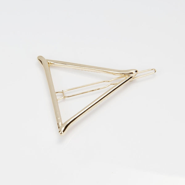 Hollow Out Geometric Triangle Hairpin