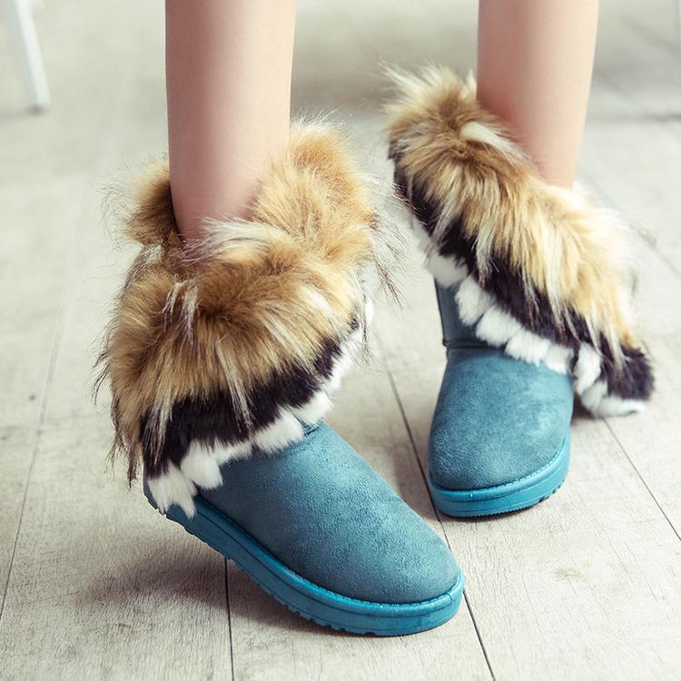 Women's Warm Fur Winter Ankle Snow Boots