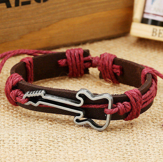 Hot Style Guitar Leather Bracelet