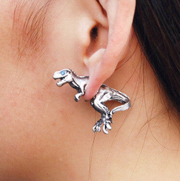 3D Dinosaur Through Single Earring