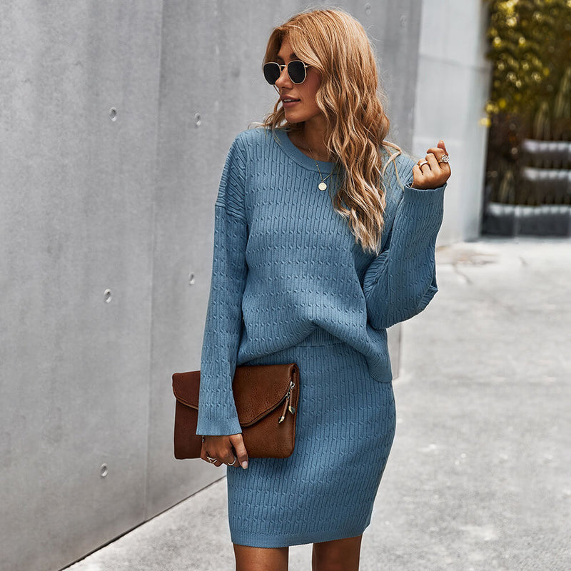OL Ribbed Sweater Short Dress