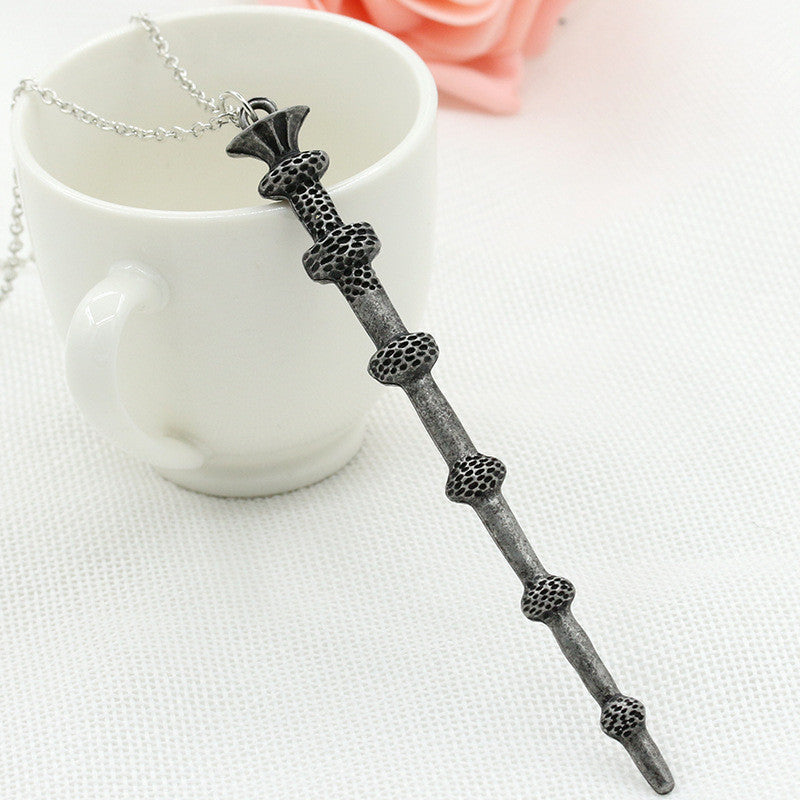 Alloy Ornament Magic Wand Necklace