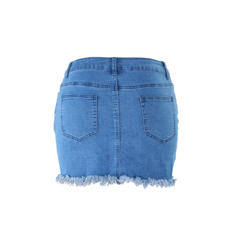 Summer Denim High Waist Bodycon Mini Skirts