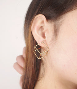Fashion Cube Lady's Earrings