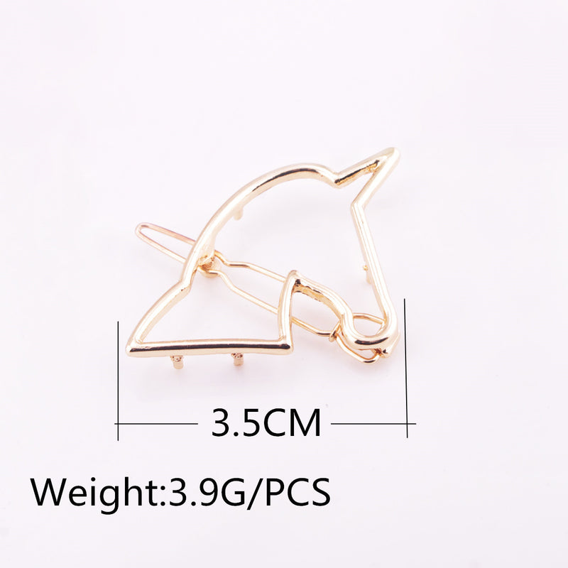 Hollow Out Unicorn Women's Joker Hair Clips
