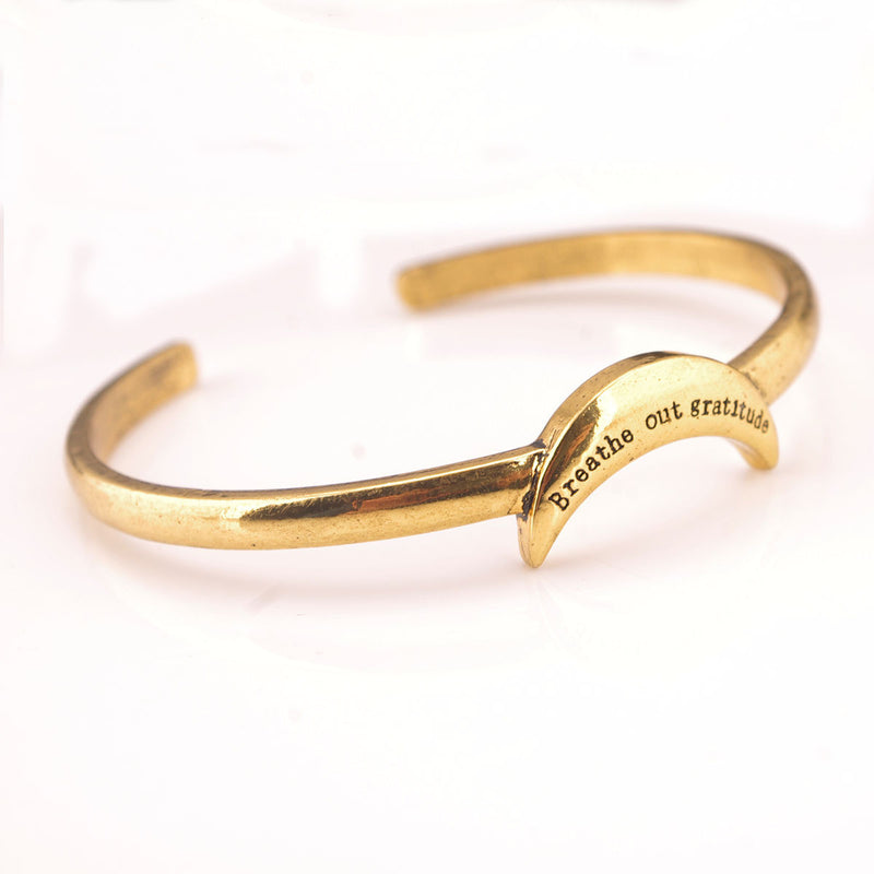 Exaggerated Snake Moon Opening Ring Bracelet