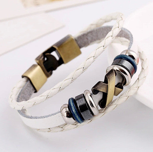 Retro Style Woven Multilayer Beaded Bracelet