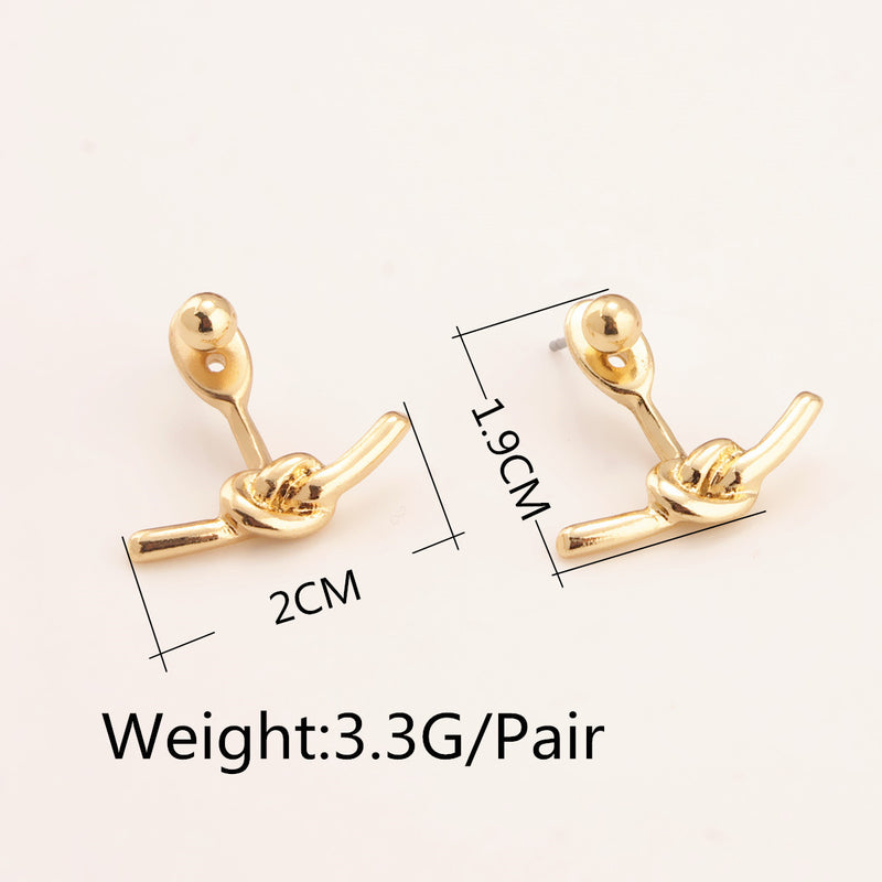 Personality Knot Lady's Earrings