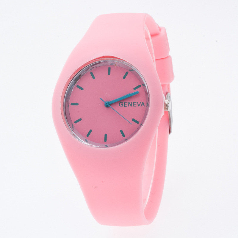 Fashion Silica Gel Strap Casual Watch