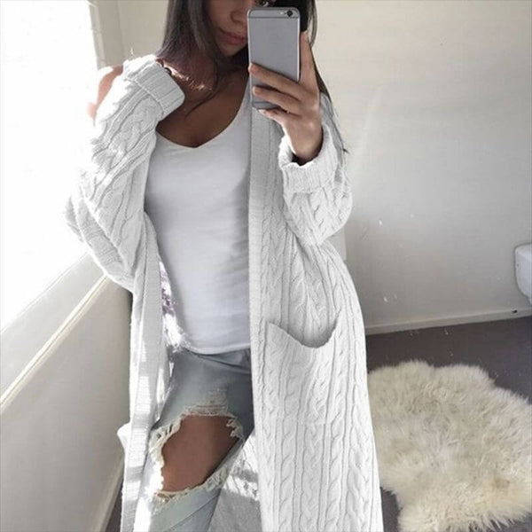 Cable Knitted Warm Sweater Cardigan