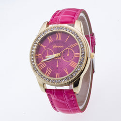 Fashion Roman Numerals Double PU Watch