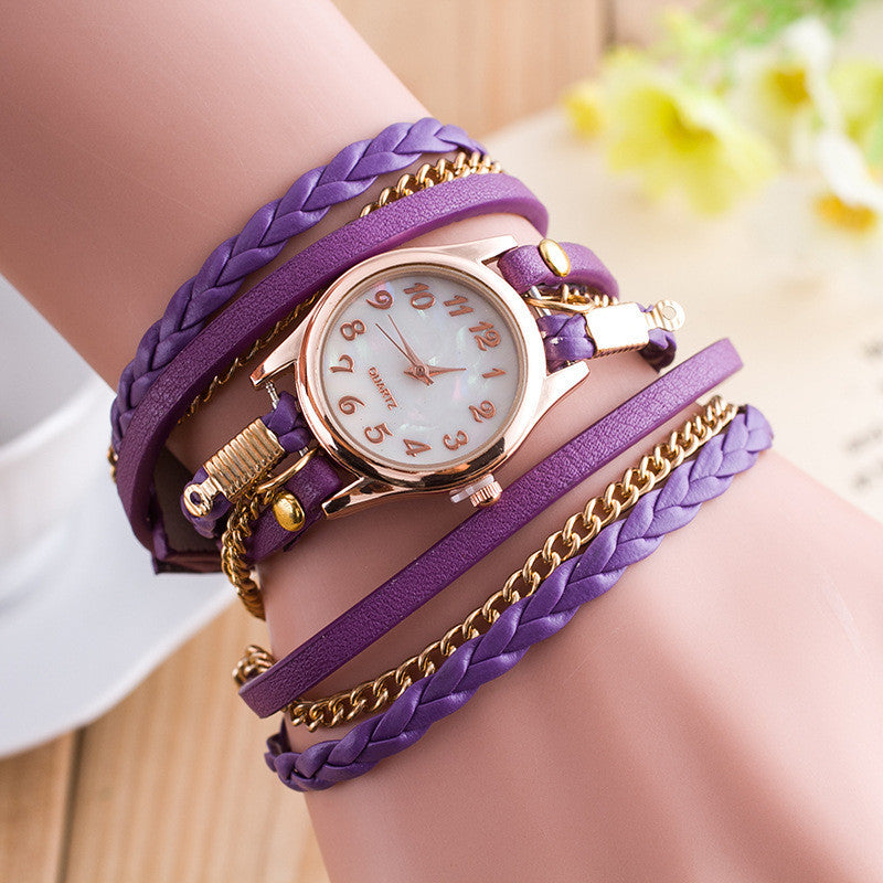 Crystal Woven Multilayer Watch