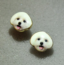 Korea Style Cute Teddy Face Earrings