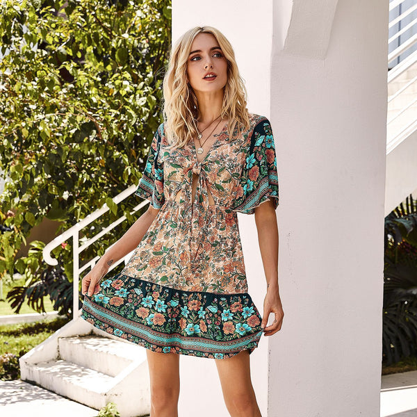 Floral print Beach Resort Dress
