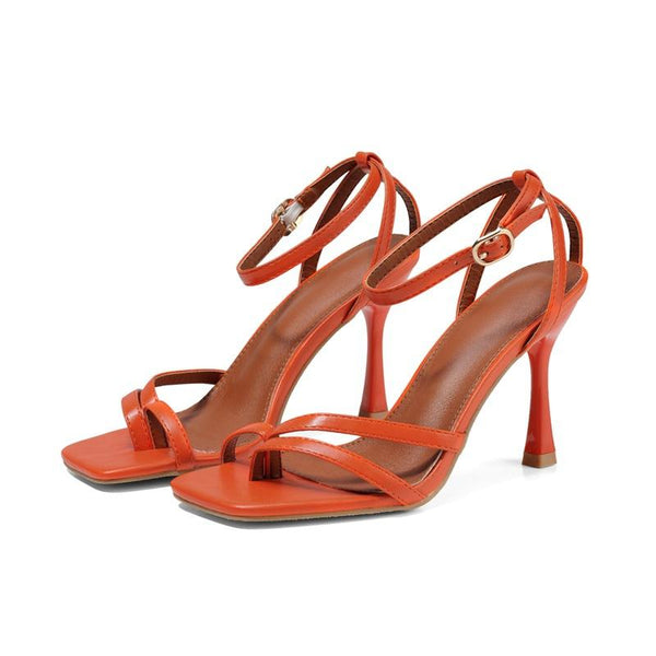 Clip foot high heel sandals