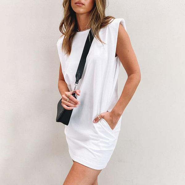 Round Neck Pocket Dress